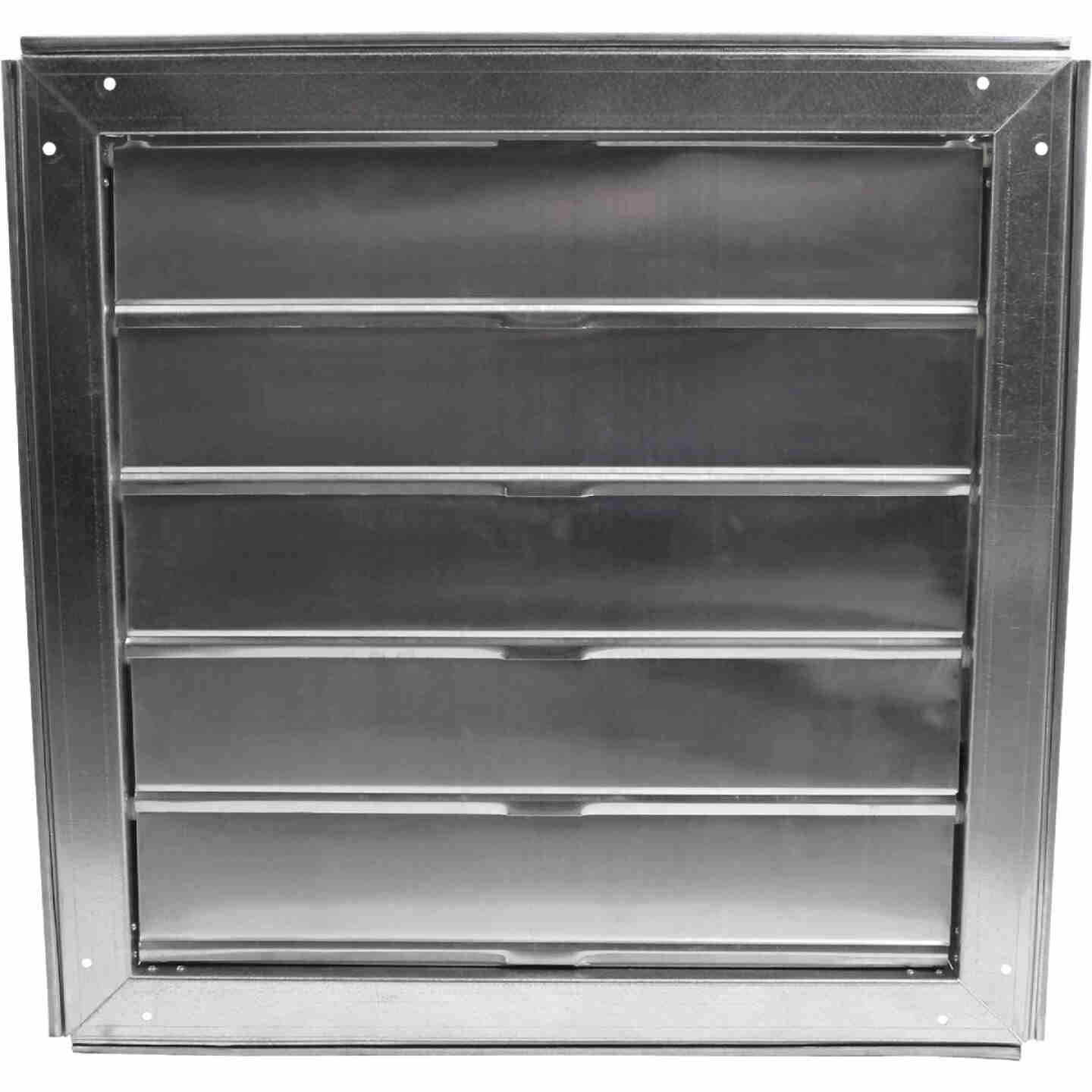 Ventamatic Cool Attic Galvanized Steel, Aluminum Louvers 22 In. W x 22 In. H x 3 In. D Automatic Automatic Gable Shutter Image 1