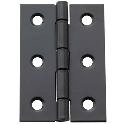 National 2 In. X 1-3/8 In. Oil Rubbed Bronze Broad Hinge (2-Pack)