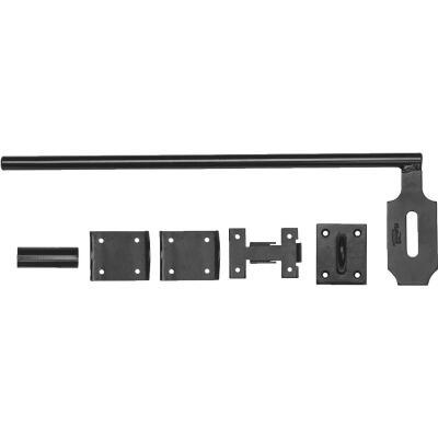 National 5/8 In. X 18 In. Black Steel Lock Cane Bolt