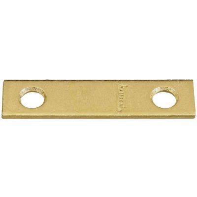 National Catalog 118 2 In. x 1/2 In. Brass Steel Mending Brace (4-Count)