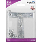 """National 4"""" x 4"""" Zinc T-Plate, (2-Pack) Image 2"""