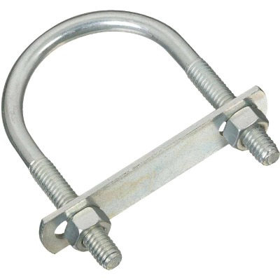 National 5/16 In. x 2 In. x 3-1/4 In. Zinc Round U Bolt