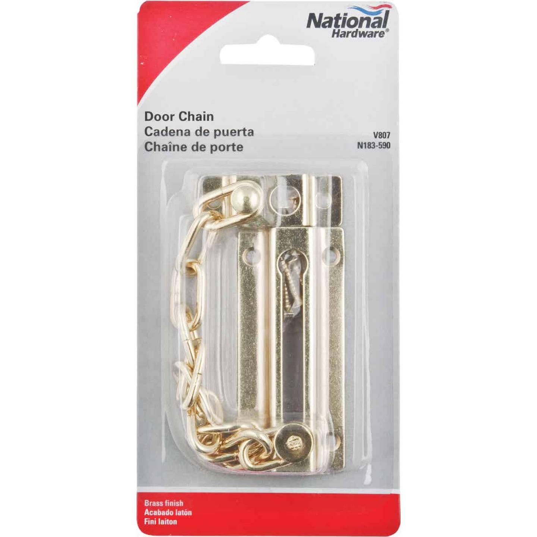 National Brass Steel Chain Door Lock Image 2