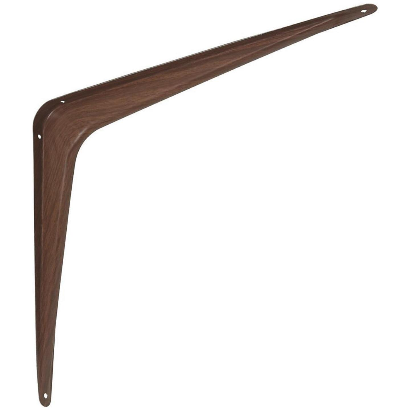 National 211 12 In. D. x 14 In. H. Fruitwood Steel Shelf Bracket Image 1