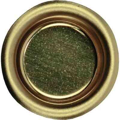 Johnson Hardware 3/4 In. Dia. Brass Flush Cup Pocket Door Pull (4-Count)