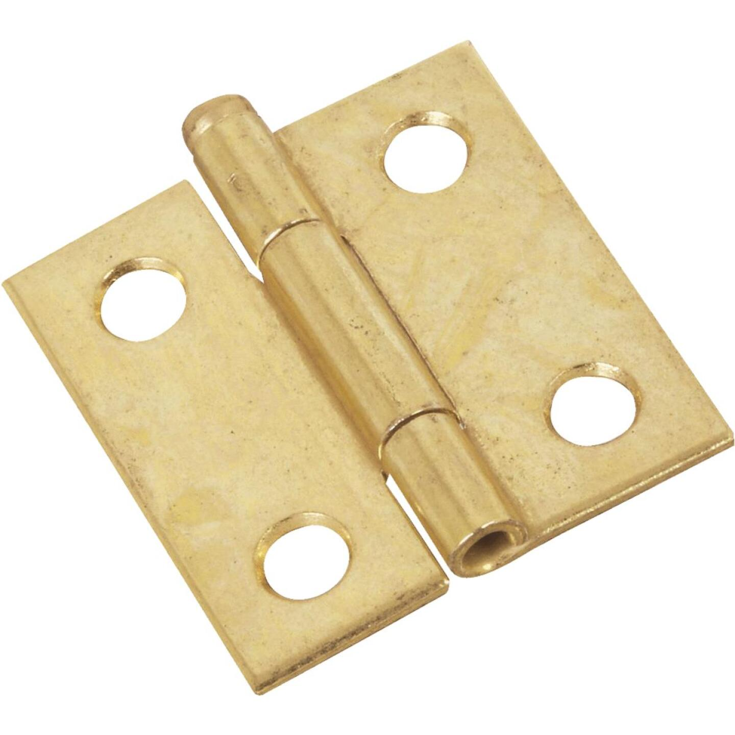 National 1-1/2 In. Brass Loose-Pin Narrow Hinge (2-Pack) Image 1