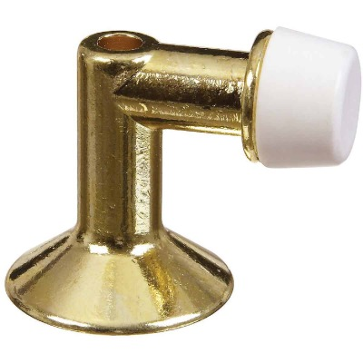 National Bright Brass Floor Door Stop