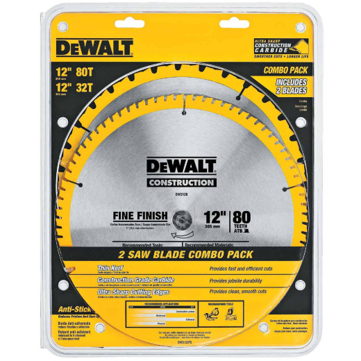 DeWalt Construction 12 In. Assorted Circular Saw Blade Set (2-Pack)