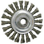 Weiler Vortec 4 In. Twisted/Knotted 0.020 In. Angle Grinder Wire Wheel Image 1
