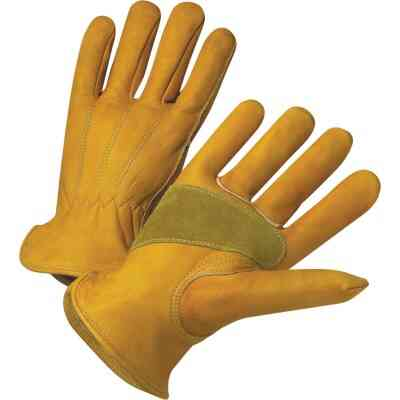 West Chester Protective Gear Men's Medium Grain Cowhide Leather Work Glove