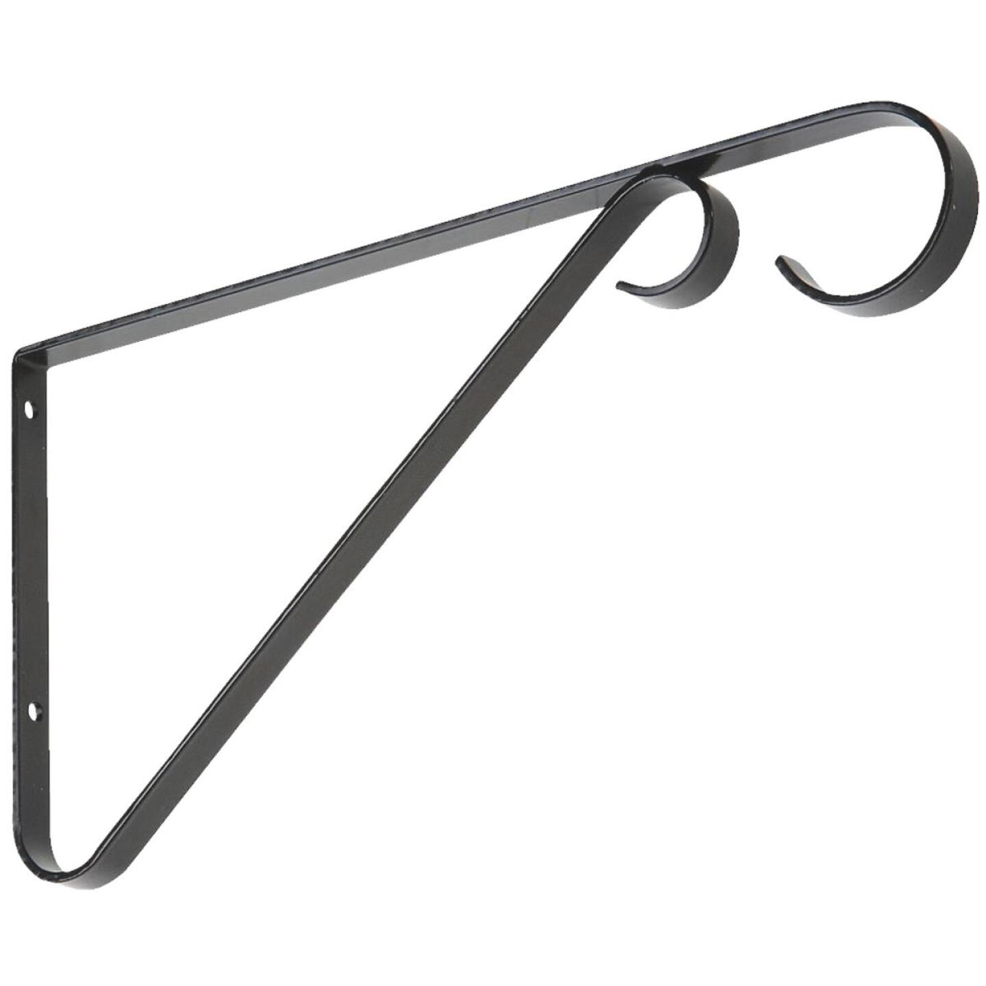 National 9 In. Black Steel Hanging Plant Bracket Image 1